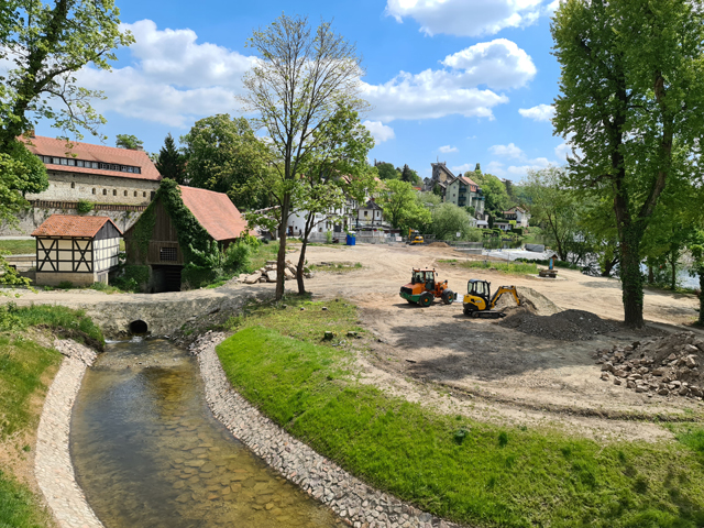 "Flood repair, Radinsel ""Bad Kösen"""